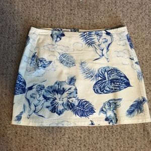 Urban Outfitters white and blue skirt.